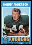 1971 Topps #162  Donny Anderson  Front Thumbnail
