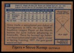 1978 Topps #21  Steve Kemp  Back Thumbnail