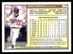 1999 Topps #14  Mike Bordick  Back Thumbnail