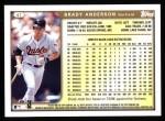 1999 Topps #41  Brady Anderson  Back Thumbnail