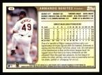 1999 Topps #46  Armando Benitez  Back Thumbnail