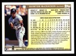 1999 Topps #39  Quinton McCracken  Back Thumbnail