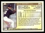 1999 Topps #108  Billy Wagner  Back Thumbnail