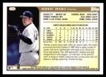 1999 Topps #115  Hideki Irabu  Back Thumbnail
