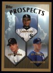 1999 Topps #425  Carlos Lee / Mike Lowell / Kit Pellow  Front Thumbnail