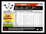 2006 Topps #168  Julian Tavarez  Back Thumbnail