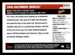 2006 Topps #268   Baltimore Orioles Team Back Thumbnail