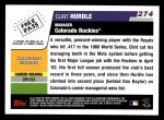 2006 Topps #274  Clint Hurdle  Back Thumbnail