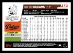 2006 Topps #373  Woody Williams  Back Thumbnail