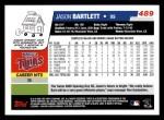 2006 Topps #489  Jason Bartlett  Back Thumbnail