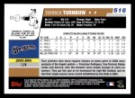 2006 Topps #516  Derrick Turnbow  Back Thumbnail