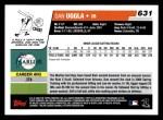 2006 Topps #631   -  Dan Uggla Rookie Card Back Thumbnail