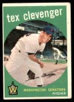 1959 Topps #298  Tex Clevenger  Front Thumbnail