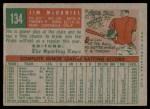 1959 Topps #134  Jim McDaniel  Back Thumbnail