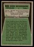 1975 Topps #242  Don Morrison  Back Thumbnail