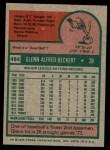 1975 Topps #484  Glenn Beckert  Back Thumbnail
