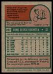 1975 Topps #367  Craig Robinson  Back Thumbnail