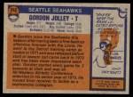 1976 Topps #242  Gordon Jolley   Back Thumbnail