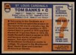 1976 Topps #498  Tom Banks   Back Thumbnail