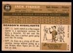 1960 Topps #46  Jack Fisher  Back Thumbnail
