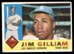 1960 Topps #255  Jim Gilliam  Front Thumbnail