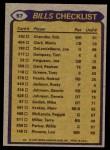 1979 Topps #57   Bills Leaders Checklist Back Thumbnail