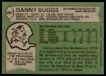 1978 Topps #297  Danny Buggs  Back Thumbnail