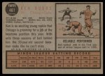 1962 Topps #461  Ken Hubbs  Back Thumbnail