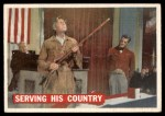 1956 Topps Davy Crockett #42   Serving His Country  Front Thumbnail