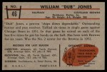 1953 Bowman #46  William Jones  Back Thumbnail