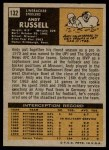 1971 Topps #132  Andy Russell  Back Thumbnail