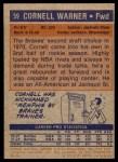1972 Topps #59  Cornell Warner   Back Thumbnail