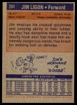 1972 Topps #204  Jim Ligon   Back Thumbnail