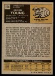 1971 Topps #174  Adrian Young  Back Thumbnail