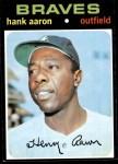 1971 Topps #400  Hank Aaron  Front Thumbnail