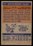 1972 Topps #142  Butch Beard   Back Thumbnail