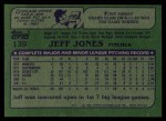 1982 Topps #139  Jeff Jones  Back Thumbnail