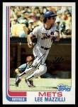 1982 Topps #465  Lee Mazzilli  Front Thumbnail