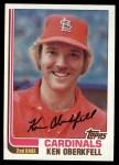 1982 Topps #474  Ken Oberkfell  Front Thumbnail