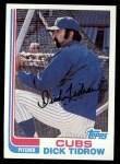 1982 Topps #699  Dick Tidrow  Front Thumbnail