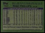 1982 Topps #762  Mike Phillips  Back Thumbnail