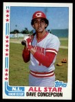 1982 Topps #340   -  Dave Concepcion All-Star Front Thumbnail