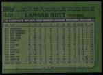 1982 Topps #428  LaMarr Hoyt  Back Thumbnail