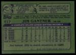 1982 Topps #613  Jim Gantner  Back Thumbnail
