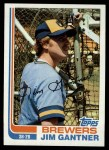 1982 Topps #613  Jim Gantner  Front Thumbnail