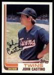 1982 Topps #644  John Castino  Front Thumbnail