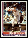 1982 Topps #706  Barry Foote  Front Thumbnail