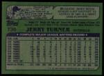 1982 Topps #736  Jerry Turner  Back Thumbnail