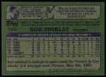1982 Topps #749  Bob Shirley  Back Thumbnail