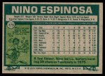 1977 Topps #376  Nino Espinosa  Back Thumbnail